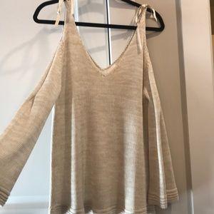 Lauren Conrad open sleeve sweater